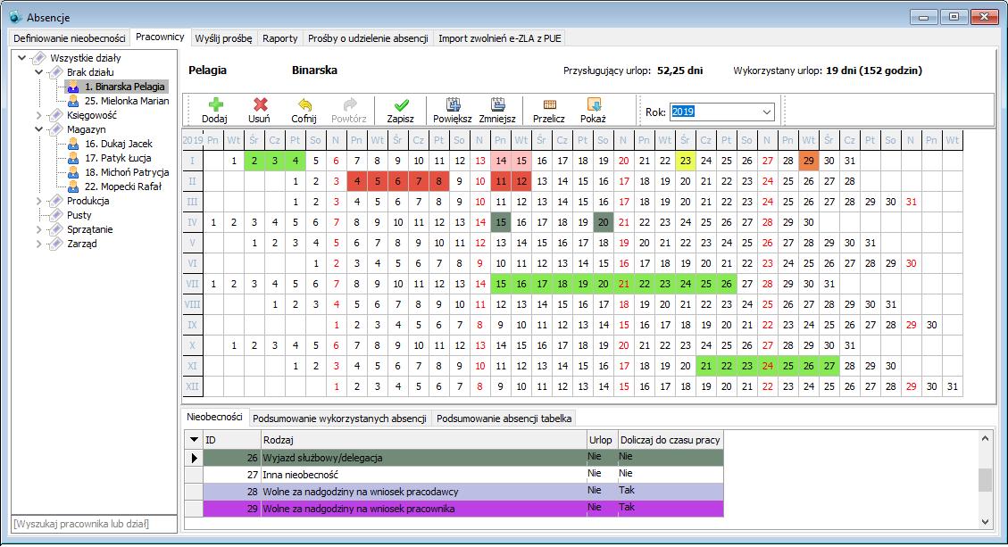 absencje Punktualnik 2.0 RCP